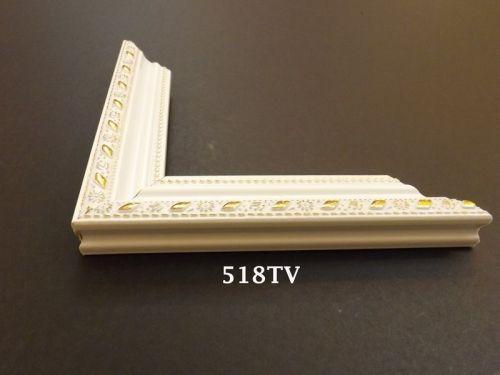 Khung Tranh Composite Màu Trắng Kết Hợp Hoa Văn Vàng Đẹp -30%