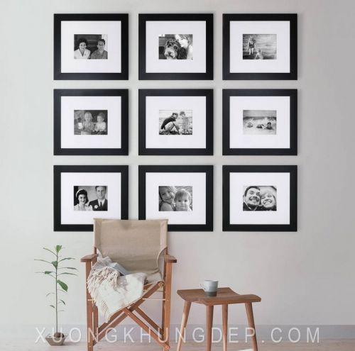 Khung ảnh treo tường sang trọng màu đen Khung Tranh Đẹp Giá Rẻ