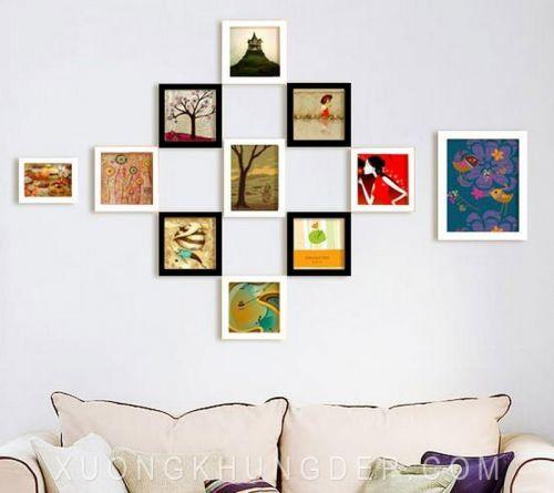 Khung ảnh treo tường phòng khách đẹp Khung Tranh Đẹp Giá Rẻ