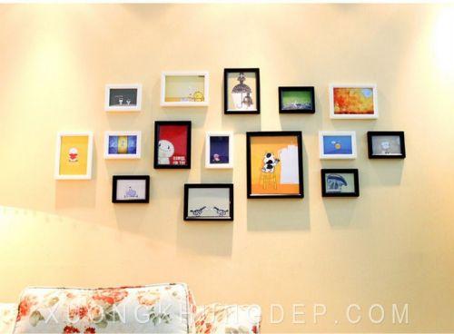 Khung ảnh treo tường đẹp cho phòng khách Khung Tranh Đẹp Giá Rẻ