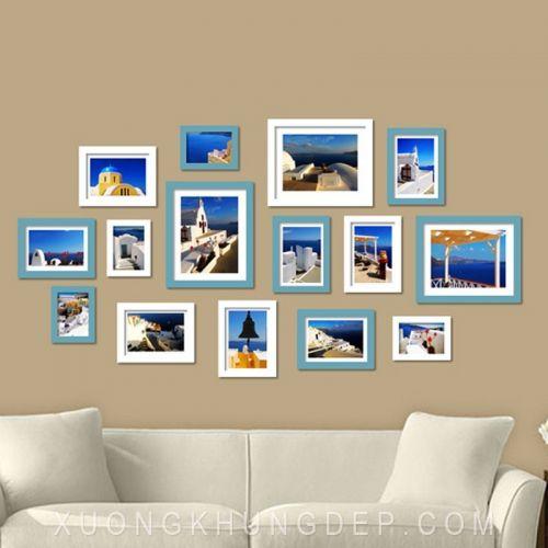 Khung tranh treo tường màu sắc tươi sáng Khung Tranh Đẹp Giá Rẻ