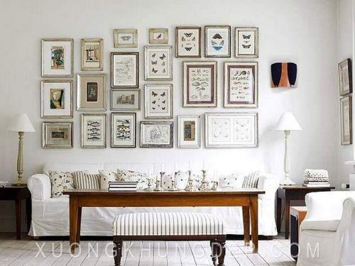 Khung tranh bộ phòng khách trang nhã Khung Tranh Đẹp Giá Rẻ
