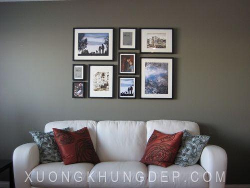 Khung tranh bộ treo tường màu đen tinh tế Khung Tranh Đẹp Giá Rẻ