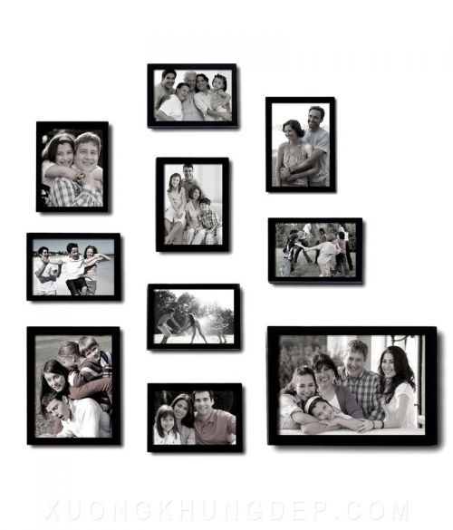 Khung tranh treo tường bộ màu đen cho gia đình Khung Tranh Đẹp Giá Rẻ