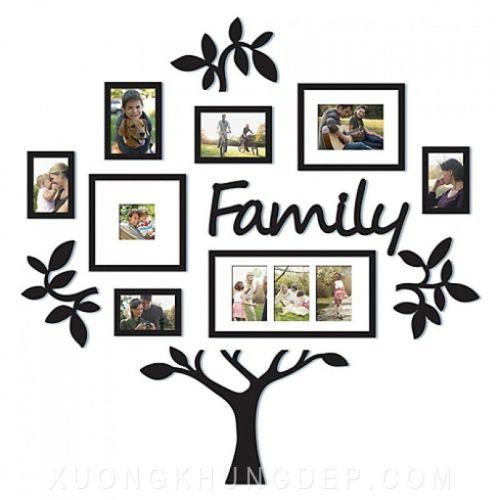 Khung tranh bộ treo tường cây gia đình Khung Tranh Đẹp Giá Rẻ